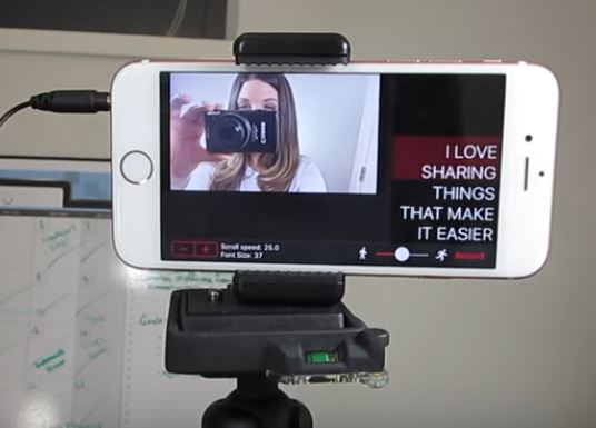 smart phone useds as a teleprompter